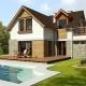 Projekt domów, 032 Avis, tarasy, projekt domu jednorodzinnego