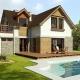 032L Avis, Projekty domów, wizualizacja, widok od ogrodu