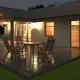 036 Signum - Projekty domów, dom jednorodzinny, nocna wizualizacja od ogrodu