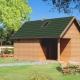 GR10L -budynek gospodarczy z sauną -front