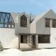 WM 01L - Bielik - projekt domu jednorodzinnego - widok od ogrodu - wariant