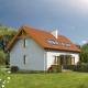 B01a Sówka, projekt domu z dwoma lokalami, widok z boku