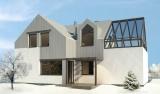 WM 01 - Bielik - projekt domu jednorodzinnego - widok od ogrodu - wariant
