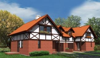 b04, bliźniak, wm02, projekty domów, mur pruski