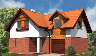wm02, dom jednorodzinny, projekt domu, klinkier