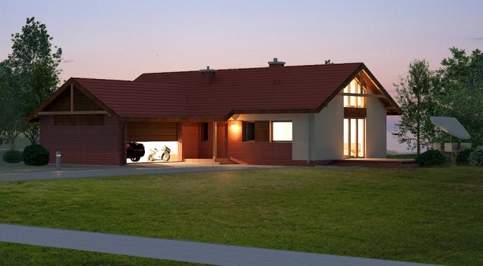 031L - Projekty domów - projekt domu jednorodzinnego