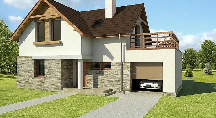 032L Avis, Projekty domów, dom z tarasem
