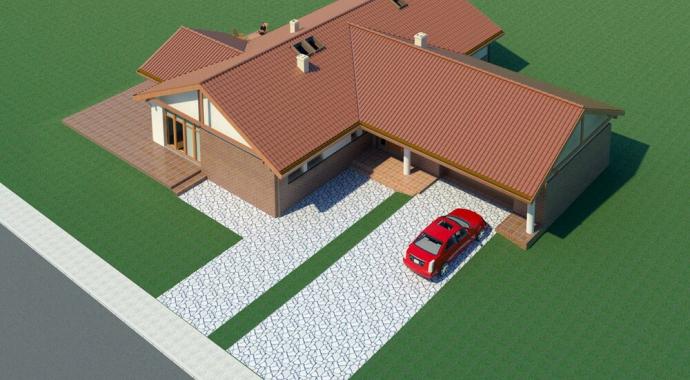 036L Signum, projekty domów, sytuacja