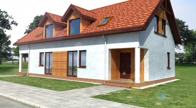 b03, bliźniak, wróblówka, dom szeregowy, projekt bilźniaka