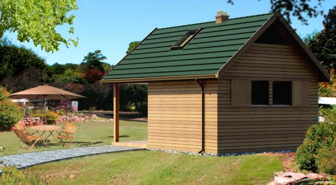 GR10 -budynek gospodarczy z sauną -tył