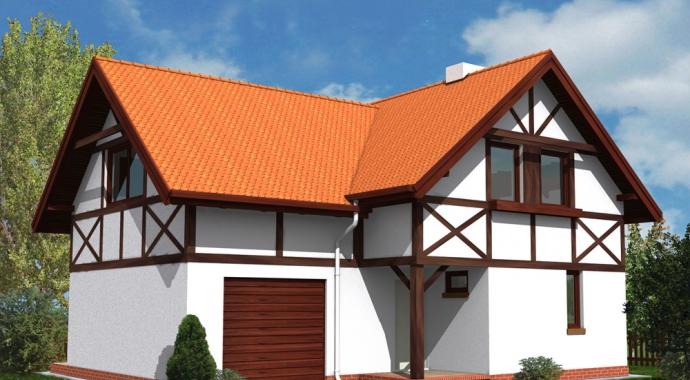 wm02l, dom jednorodzinny, projekt domu, mur pruski