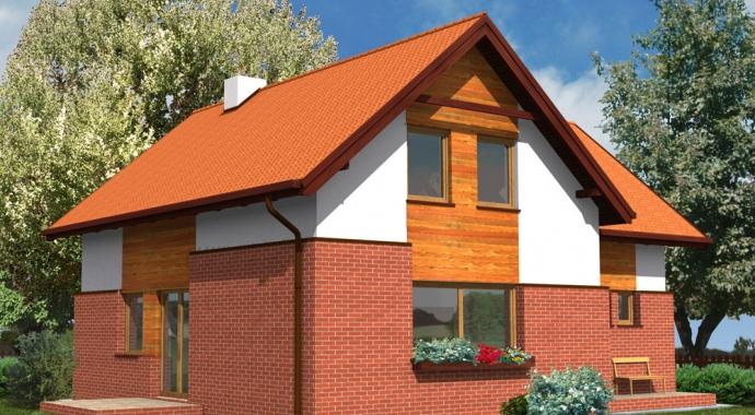 wm02l, dom jednorodzinny, projekt domu, klinkier